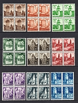 1940 General Government, Germany (2 Scans, Blocks of Four, Full Set, CV $80, MNH)