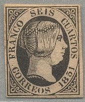 1851, 6 cu., black, imperforated, MH, very fresh, good margins, VF! Estimate 400