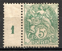 1900-17 France Control Number (MNH)