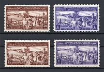 1949 Development of the Livestock Breeding Sc. 1408-09 (First+Second Printing, Full Sets, MNH/MVLH)