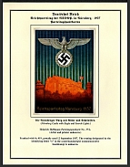 1937 Reich party rally of the NSDAP in Nuremberg, Castle with Eagle and Search Lights