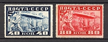 1930 Airship `Grov Zeppelin` in Moscow (Full Set, MNH)