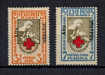 1923 Estonia (Mi. 46A-47A, Certificate, Perforated, Full Set, Signed, CV $360)