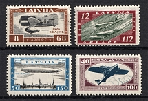 1933 Latvia Airmail (Mi. 228 A - 231 A, Perforated, Full Set, CV $300, MNH)