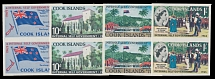 Cook Islands, 1965, Internal Self Government, Map, imperf cplt set in pairs