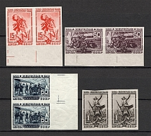1940 The 20th Anniversary of Fall of Perekop, Soviet Union USSR (Imperforated, Pairs, MNH)