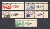1942 Reich French Legion (with Date `2-4-42` on Coupon, CV $200, Full Set, MNH)