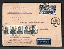 1940 two Letters from Moscow to Brno, to Czechoslovakia and the Protectorate International Air Letter and Regular, German Censorship