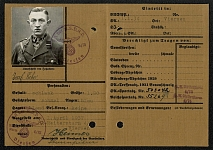 1934 Storm Trooper identity card for Corporal Josef Eicker, Germany Third Reich