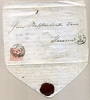 1862: Thurn & Taxis 2 SGr rose on cover