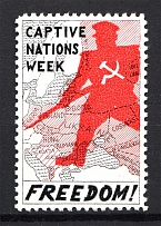 Captive Nations Week Freedom! Non-Postal Stamp (MNH)