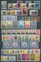 1953-2005, 1600 mint stamps some in multiples and 118 miniature and souvenir