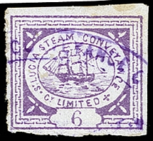 1872, First printing, Steamer 6 pence lilac (transfer type 3), fresh colour,