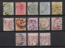 1884-1902 Gold Coast, British Сolonies, Group of Stamps (Canceled, CV $60)
