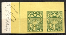 1927-33 Latvia Pair 6 S (Probe, Proof, MNH)