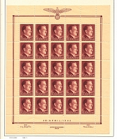 1942 Germany General Government Block Full Sheet 30 Gr+1 Zl (MNH)