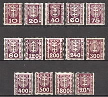 1921-22 Germany Danzig Gdansk (CV $10, Full Set, MNH/MH)
