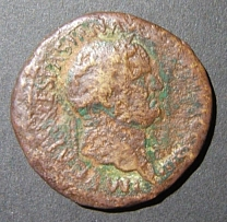 Vespasian AE Sestertius Judaea Capta commem ancient coin, Hendin 1502, G-VG