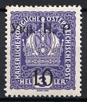 1918 Kolomyia West Ukrainian People's Republic 10/15 H (Signed, CV $90)
