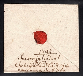 1794 Cover to Pernau (Coat of Arms Wax Seal)