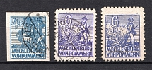 1946 Mecklenburg-Vorpommern, Soviet Russian Zone of Occupation, Germany (CV $170, Canceled/MH)