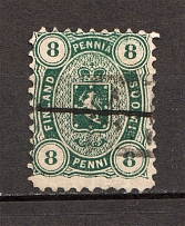 1875-82 Finland 8 Penni (Perforation 11, CV $110, Cancelled)