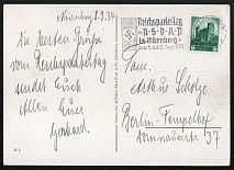 1934 Reich party rally of the NSDAP in Nuremberg, SA and SS Men, RARE card !!