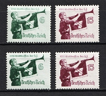 1935 Third Reich, Germany (Horizontal+Vertical Gum, Full Set, CV $100, MNH)
