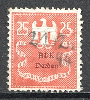 Germany Medical Certificate Revenue 25 Rpf (Cancelled)