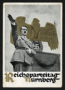 1936 Reich party rally of the NSDAP in Nuremberg, Hitler saluting