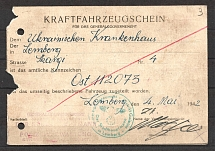 1942 Ukraine German Occupation Lviv Lemberg Revenue