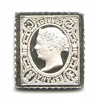 1865 Spain 12 C (Sterling Silver Miniature, Greatest Stamps of The World)