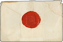 MONT ATHOS: Two undated envelopes with spectacular Greek monastic wax seals