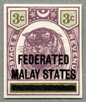 1976, 3 c. in dull purple and sage-green, on PAHANG with black opt FEDERATED