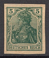 1902 Germany 5 Pf Probe Proof (Authenticity unknown, Signed, CV $800)