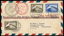 Germany-Zeppelin Flights May 18-31, 1930, First SAF cover to USA