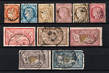 1870-1900 France (Group of Stamps, Canceled)