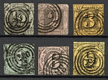 1852-58 Thurn und Taxis Germany (CV $160, Cancelled)
