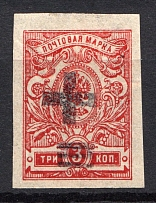 1920 Sasovo (Ryazan) 3 Kop Geyfman №3 Local Issue Russia Civil War (RRR, Extermely Rare)