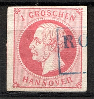 1859 Hanover Germany 1 Gr (Cancelled)