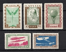 1932 Latvia Airmail (Perforated, Full Set, CV $145, MNH/MH)