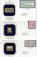 1990 US. Lot of 5 FD envelopes with a gold