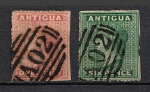 Antigua, British Colonies (No Watermark, Canceled)