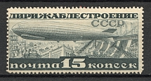 1932 USSR Airship Constructing (Full Set, MNH)