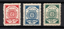 1918 Latvia (Full Set, CV $20)