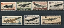 1937 USSR. Airmail. Aircraft. Soloviev 560 - 566. Series. Condition **.