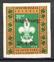1946 Lithuania Baltic Scouts States Dispaced Persons Camp Ausburg (Signed, MNH)