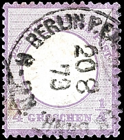 1 / 4 Gr. Gray violet, lightly shade, having bright colors extremely fine copy