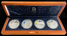 PRC 2007, Beijing Olympic Games (II issue), dated 2008, four silver 10y coins