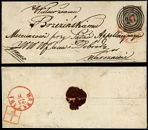 Poland, 1864, 10k used on small size entire wrapper from Lipno to Warsaw